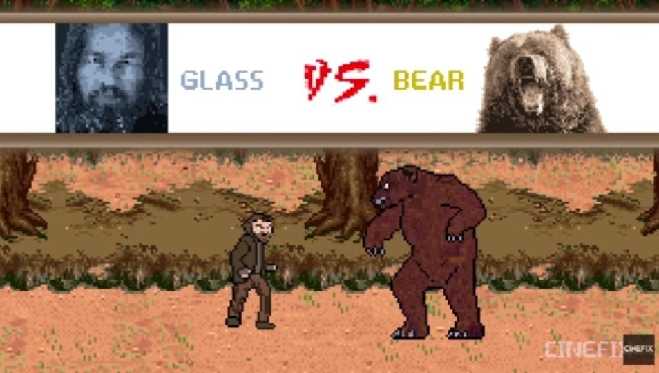 クマ戦も再現。映画「レヴェナント: 蘇えりし者」をレトロゲーム化