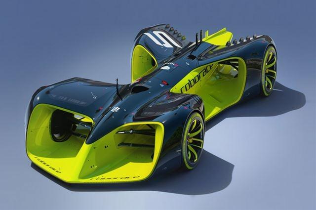 世界初の自動運転車によるカーレース「Roborace」コンセプトイメージ