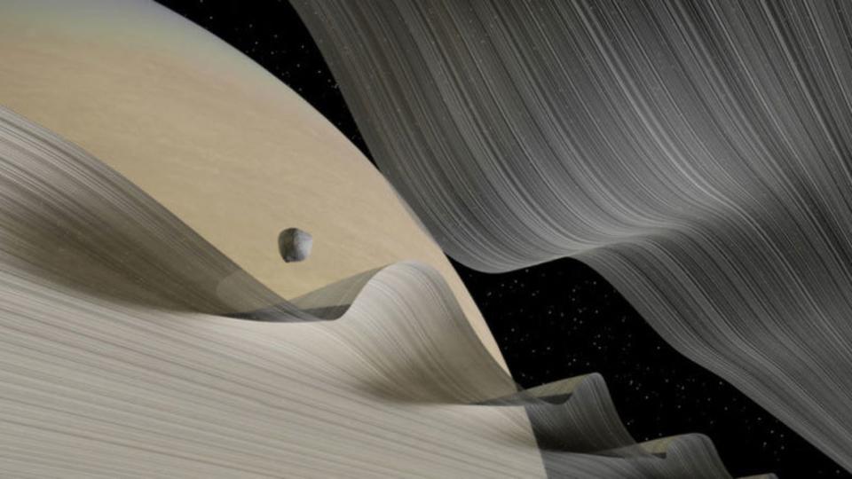 どういうこと…? リボンみたいに波うつ土星の輪