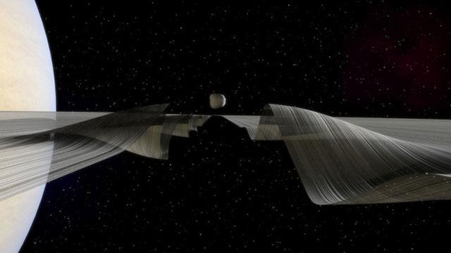 どういうこと…? リボンみたいに波うつ土星の輪2