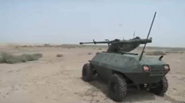 イラクの対ISIS兵器は、重装備の軍事ロボット