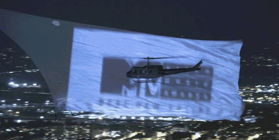 MTVアワードのプロモーションで広告が出された場所は...空! 大規模すぎる4K広告