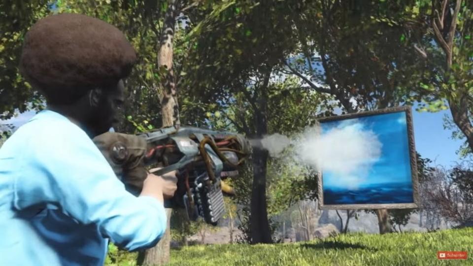 ゲーム「Fallout 4」でボブ・ロスの番組「ボブの絵画教室」を過激に再現