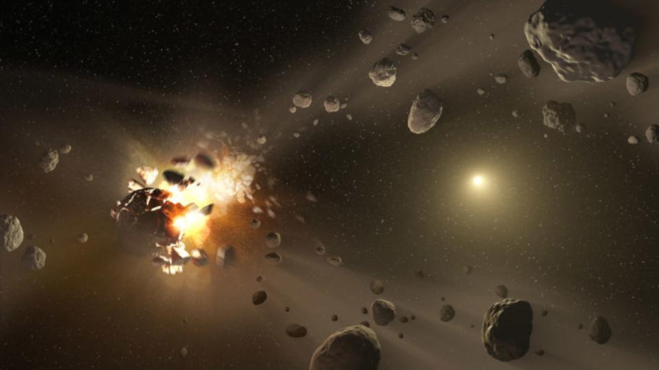週末、地球のそばを通り過ぎた小惑星があった