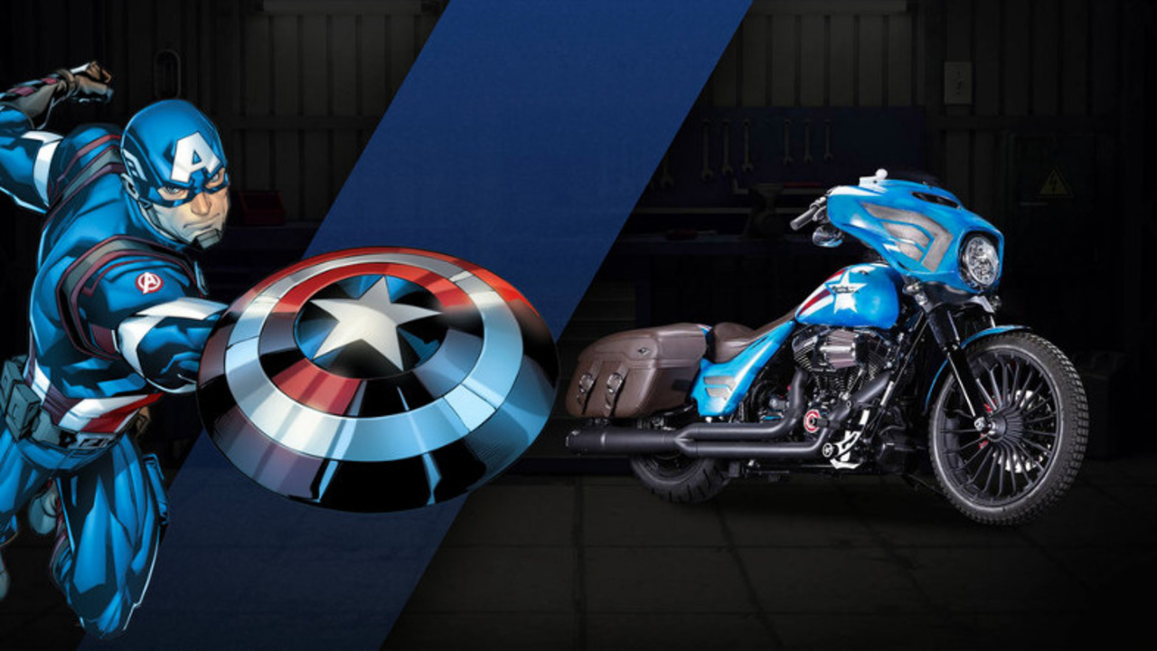 ハーレーからマーベル公式のスーパーヒーロー・カスタムバイクが登場
