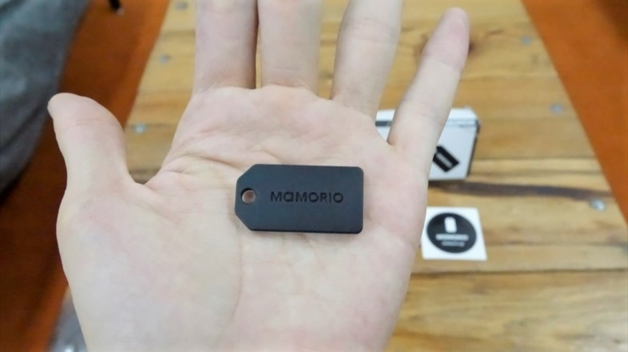 厚さ3.4mmの落し物追跡タグ「mamorio」。これは世界から落し物がなくなるかも