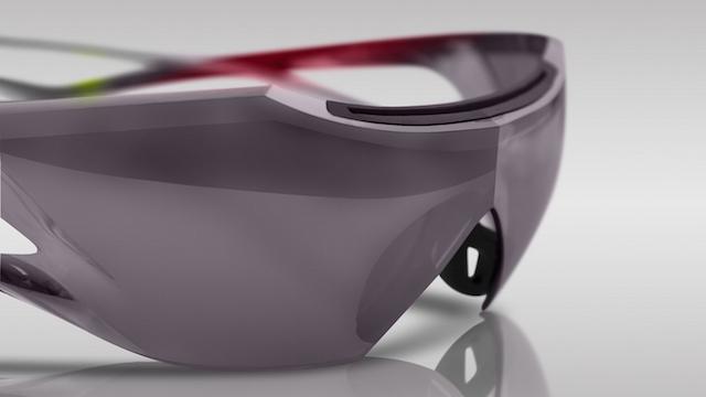 ナイキとツアイスが開発したサングラス「Nike Wing」の接写