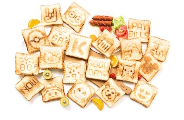 Toasteroidでいろいろな絵をかいたトースト