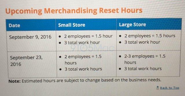AT&Tの小売店のスケジュールに関する案内