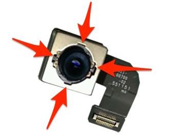流出したiPhone 7のカメラ部品のレンズ周りには4箇所の切り込み