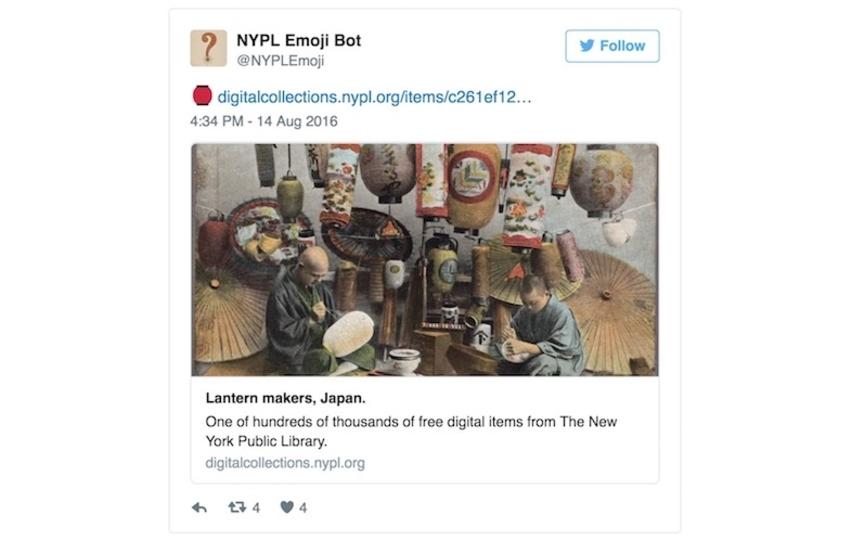 69万点以上の所蔵品から。NY公共図書館Botが絵文字に合うイメージをご紹介