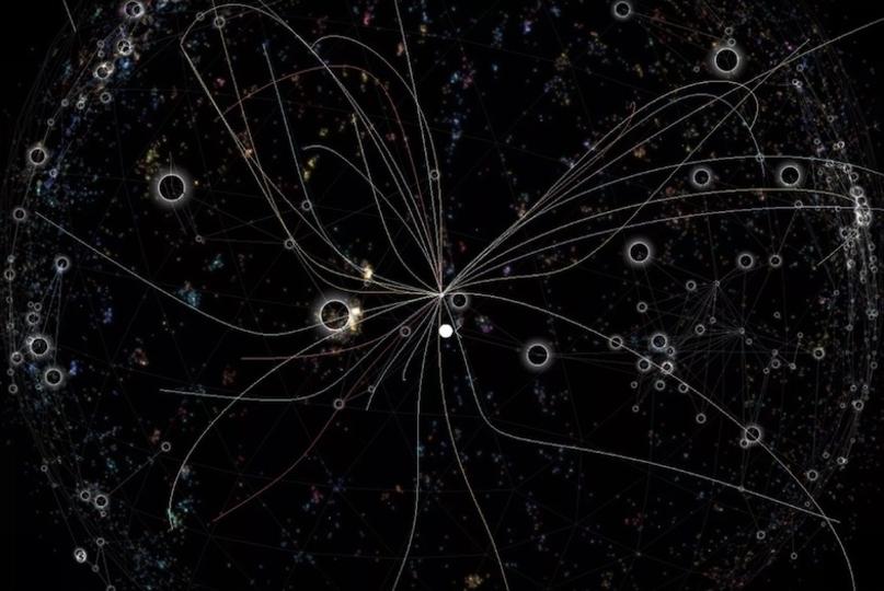 知識の銀河。Wikipediaが宇宙になりました