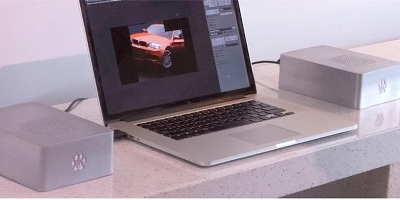 MacBook Proのグラフィック性能が最大10倍に跳ね上がる外付けGPUボックスが開発中
