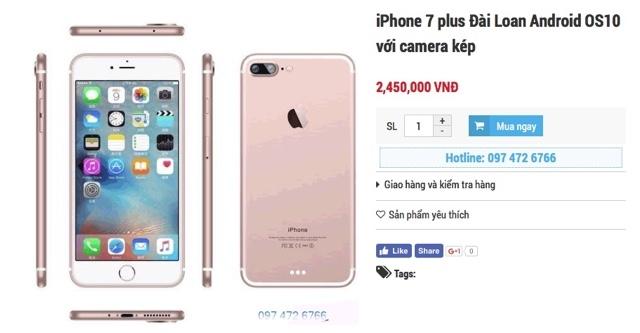 ベトナムで販売しているiPhone 7 Plus