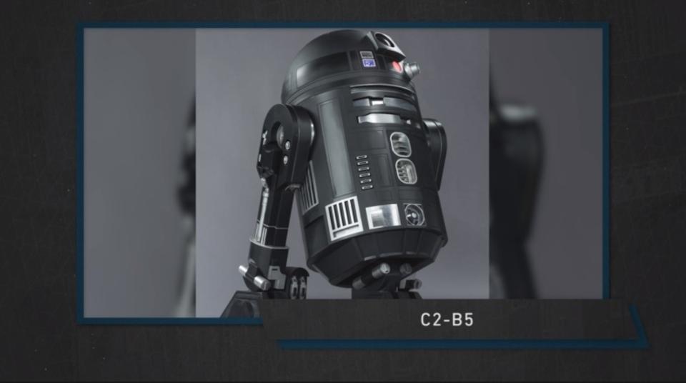 スター・ウォーズ最新作「ローグ・ワン/スター・ウォーズ・ストーリー」に登場する新型アストロメク・ドロイド「C2-B5」の姿が明らかに