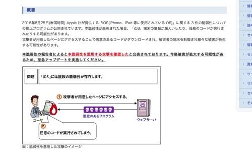 「iOSの深刻な脆弱性」についてIPAも注意喚起2