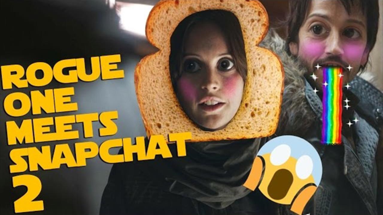 もしSnapchatが「ローグ・ワン/スター・ウォーズ・ストーリー」と出会ったら?