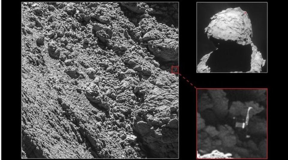彗星で行方不明の探査機フィラエ、見つかる。探査機ロゼッタがミッション終了間際に発見
