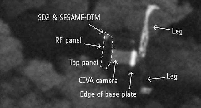 彗星で行方不明の探査機フィラエ、見つかる。探査機ロゼッタがミッション終了間際に発見2