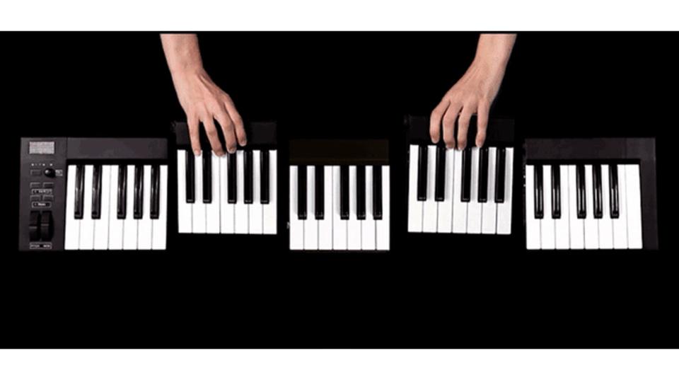 鍵盤数を思いのままに。モジュール式MIDIキーボードが「KOMBOS」資金調達中
