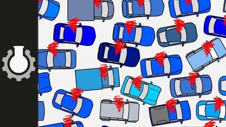 ヘタな運転が原因で渋滞が起きるのがよくわかる動画