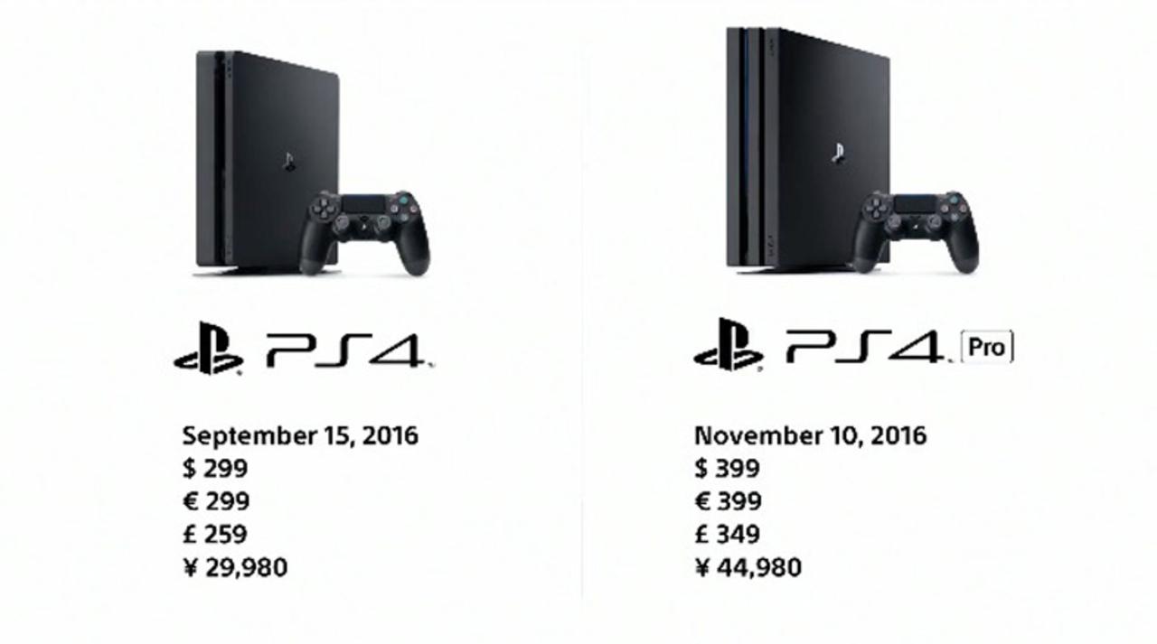 薄くなった新型「PS4」、パワフルな上位版「PS4 Pro」が登場! お値段は2万9980円/4万4980円で、発売日は9月15日/11月10日に