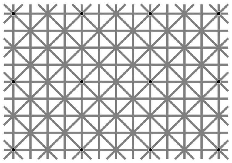 あなたには何個見える? 12個の黒いドットを探せ