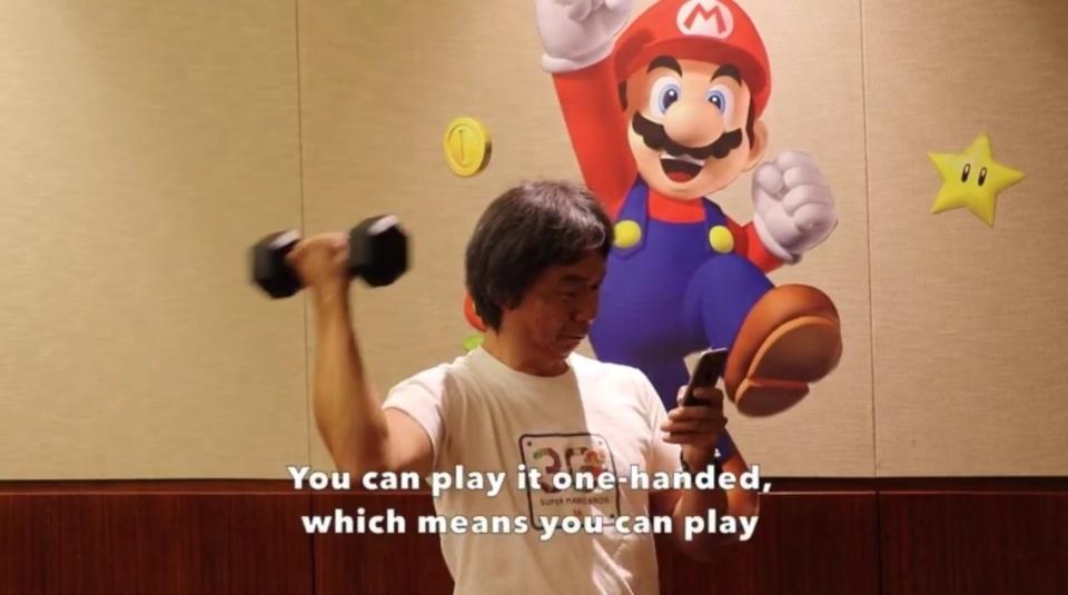 宮本茂さんがiOS向けゲーム「スーパーマリオラン」をデモンストレーション