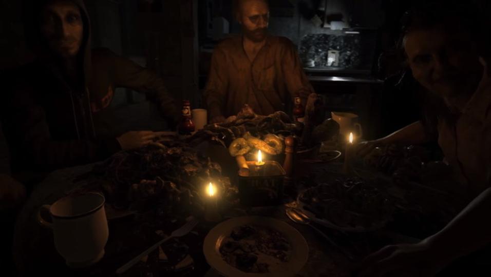 不気味すぎる家族ベイカーとのグロい食事。「バイオハザード7」新トレーラー