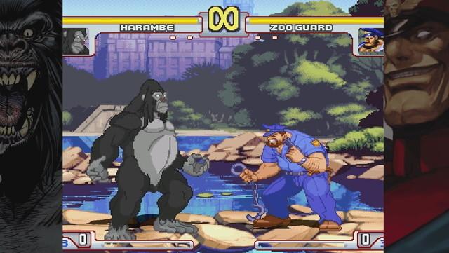 射殺されたゴリラのハランベが格闘ゲームに参戦?2