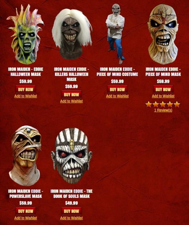 アイアン・メイデンのマスコット「エディ」の公式マスクが登場!2