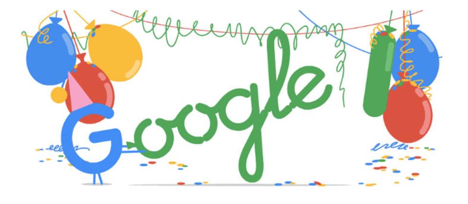 Googleの創立18周年記念、スペシャルDoodleロゴでおめでとう!
