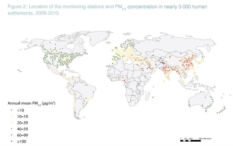 大気汚染 分布図