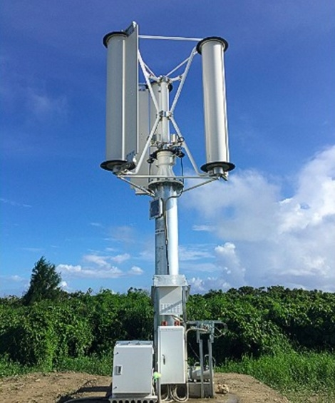 株式会社チャレナジー 台風発電 垂直軸型マグナス風力発電機 2