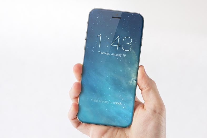 iPhone 8 全面ディスプレイ