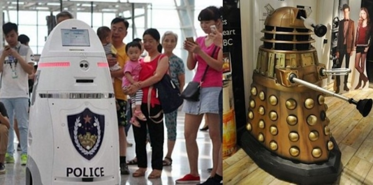 フシンシャハッケン…中国空港に「ロボコップ」が誕生しました