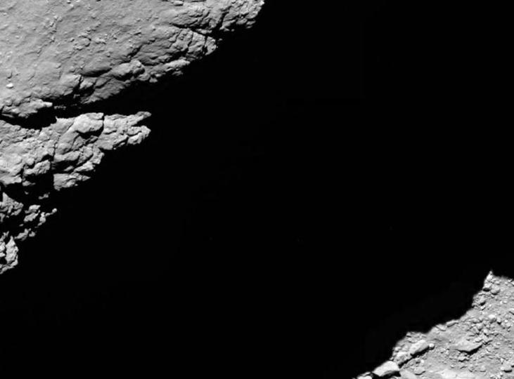 12年間のミッションを終えた探査機ロゼッタが彗星衝突前、最後に見た風景