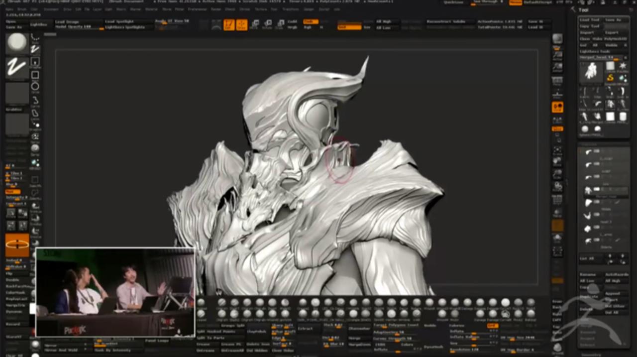 ZBrushを使った「KINGSGLAIVE FINAL FANTASY XV」のメイキング映像が公開