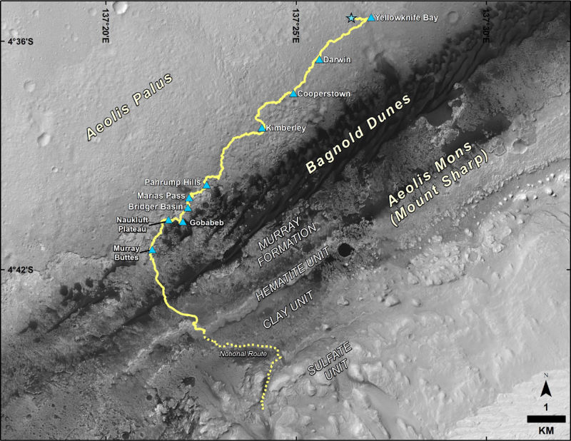 3 火星探査機キュリオシティの最新セルフィー写真と360°のパノラマ