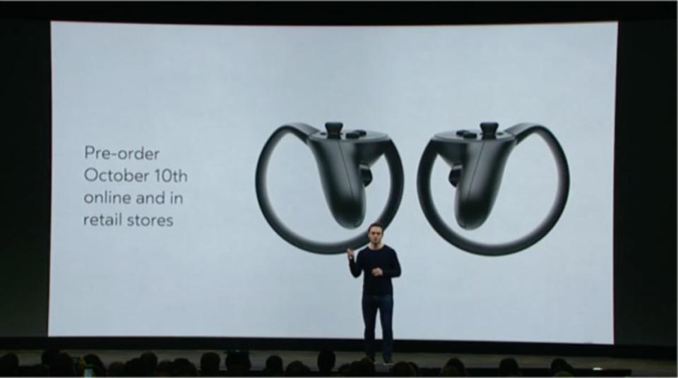 Oculus Touchコントローラー、12月ついに米国で発売! 予約受付は今月から
