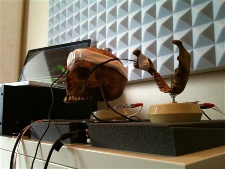 人間の頭蓋骨を通して作られたゲーム・ミュージックをお聞きください