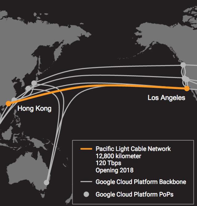 1 GoogleとFacebookが提携、LA/香港間に巨大海底ケーブル通す