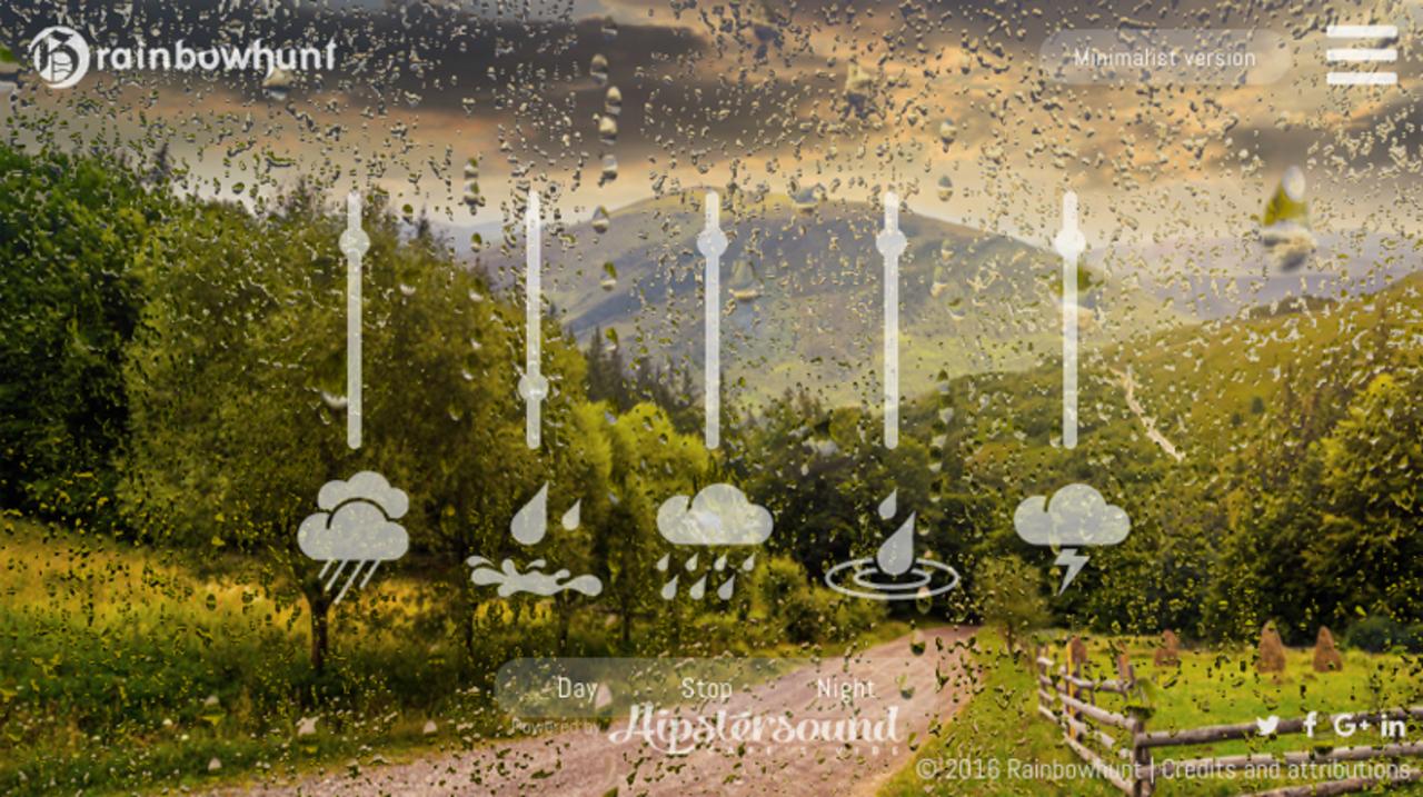 5種の雨天の音をブラウザでミックスできる「究極の雨シミュレーター」
