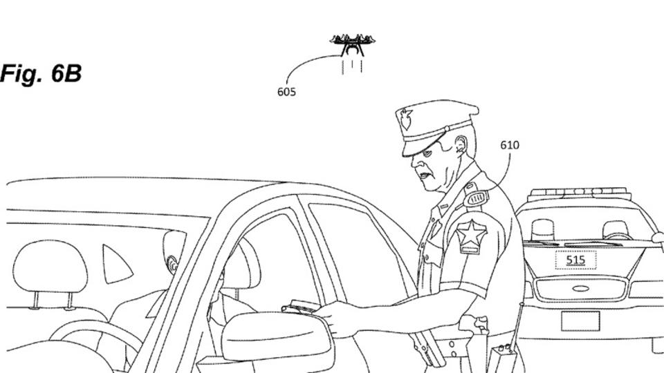 未来の警察のアシスタントは警察犬ではなく、ドローン? Amazonがミニチュア・ドローンの特許を取得