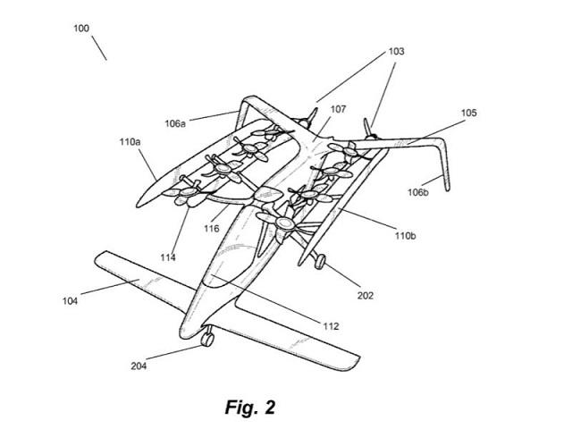 Zee.Aero 空飛ぶ車 特許デザイン