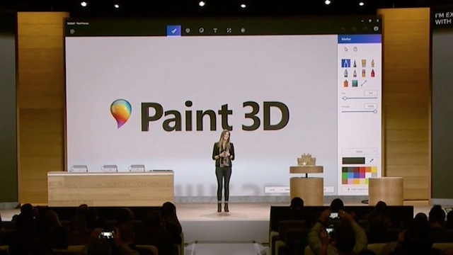 Windows Creators Update Paint 3D 1