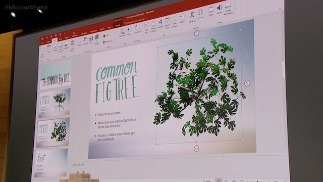 Windows Creators Update Powerpoint 3D