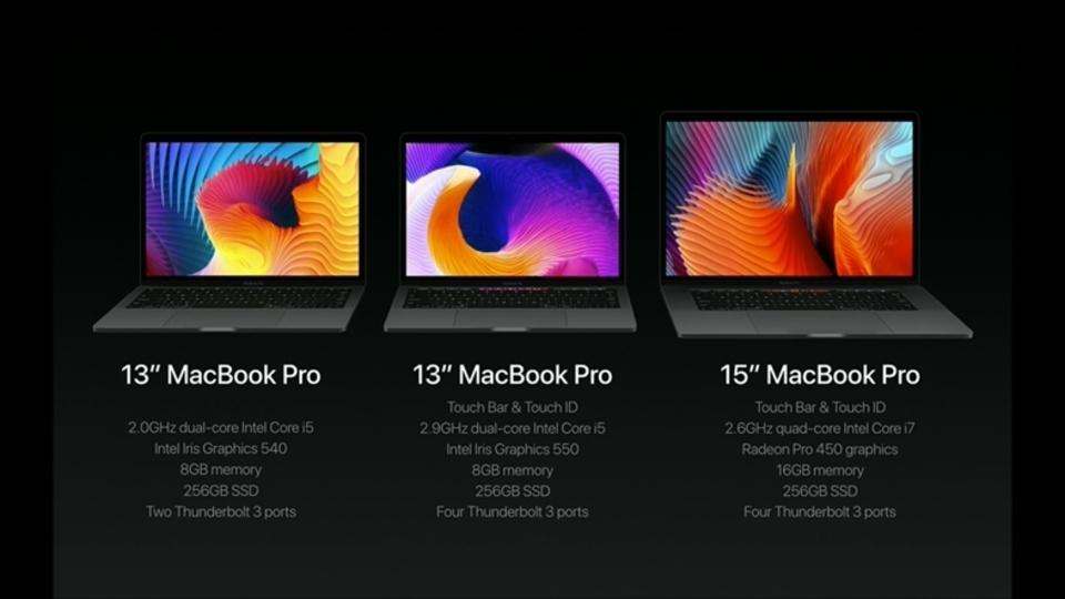 MacBook Air13インチがクラスチェンジ! MacBook Pro13インチTouch Barなしになります