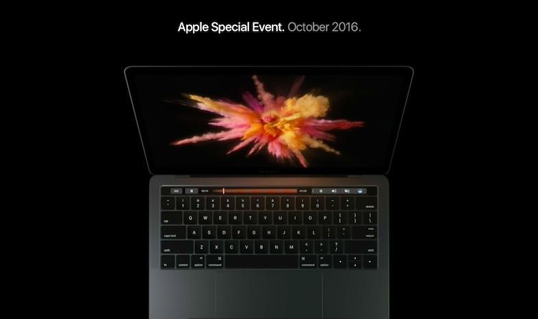 万能「Touch Bar」搭載の新MacBook Pro 13&15インチ発表 1