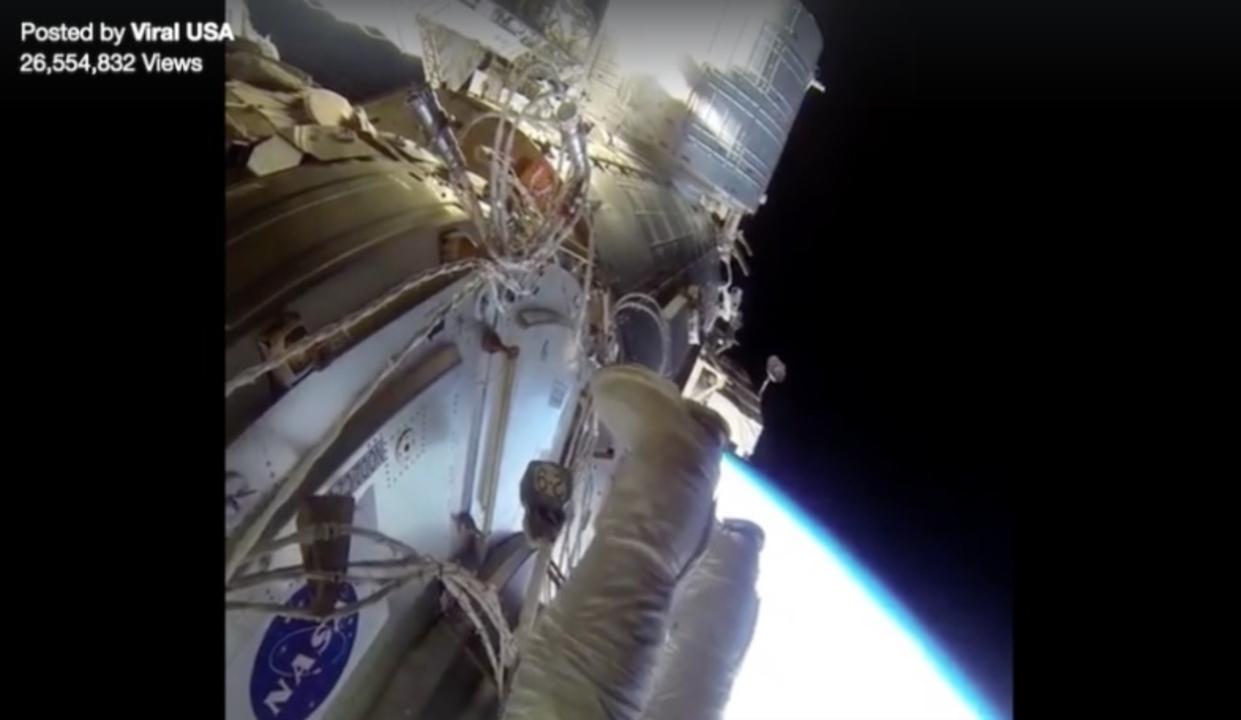 国際宇宙ステーションからの生中継! Facebookで偽のライブ動画が蔓延